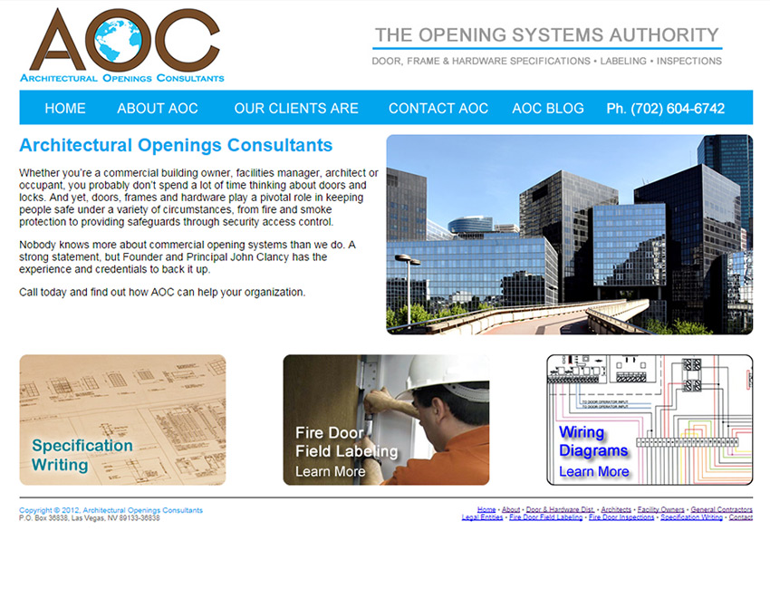 Architectural Openings Consultants Website
