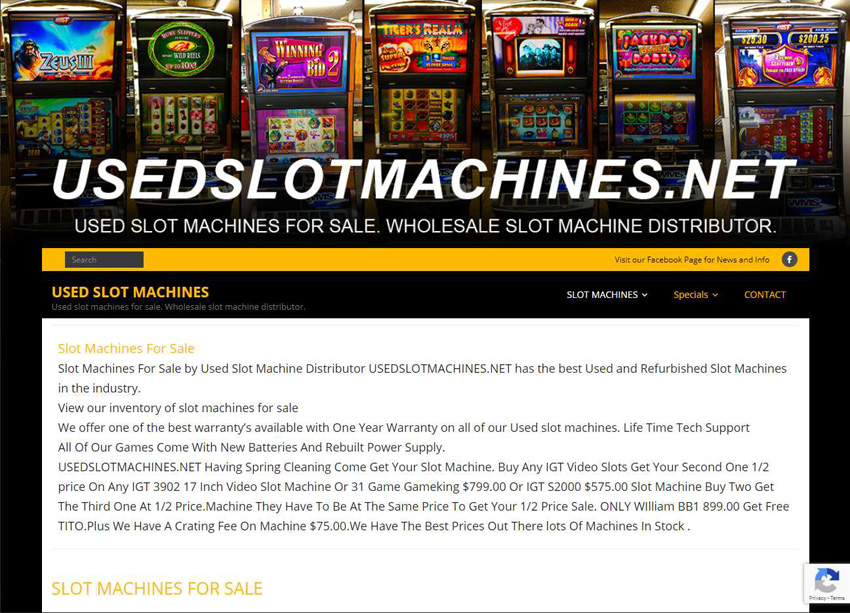 Used Slot Machines Website