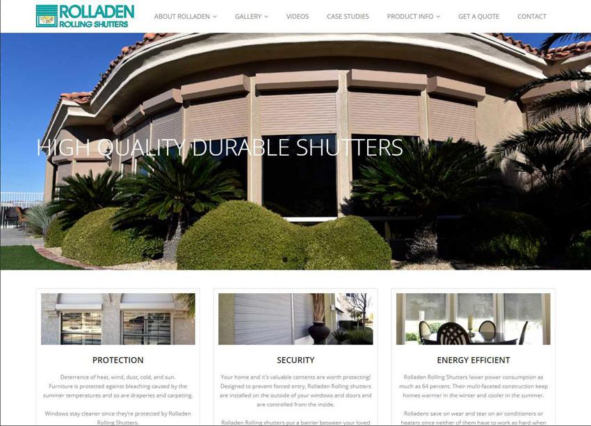 Rolladen Rolling Shutters Website