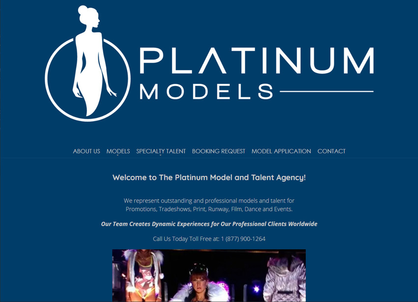 Platinum Models Website