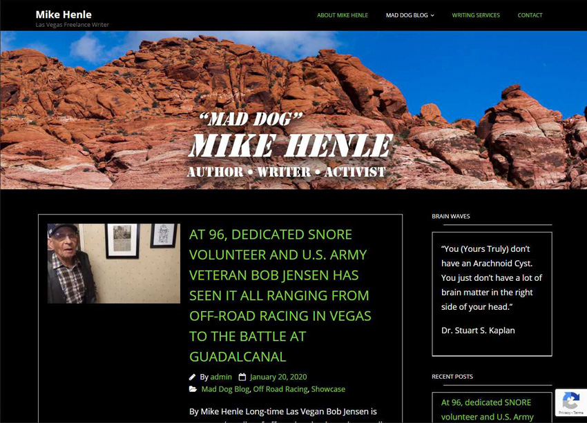 Mad Dog Mike Henle Website