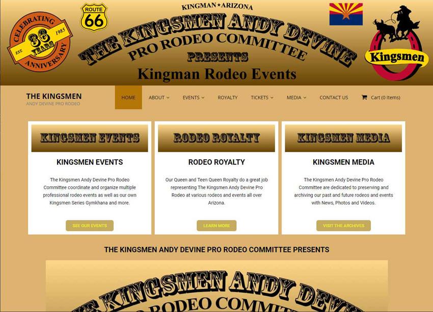 Kingsmen Rodeo Website