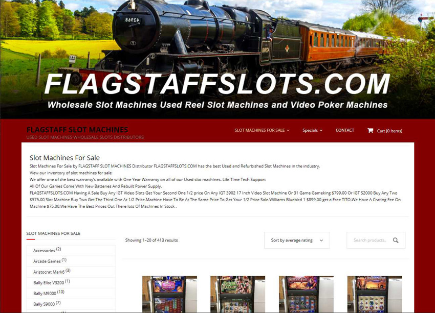 Flagstaff Slots Website
