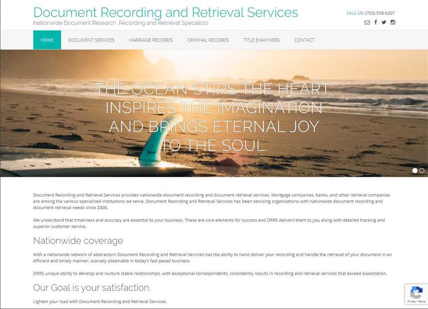 Document Recording & Retrieval Services Website