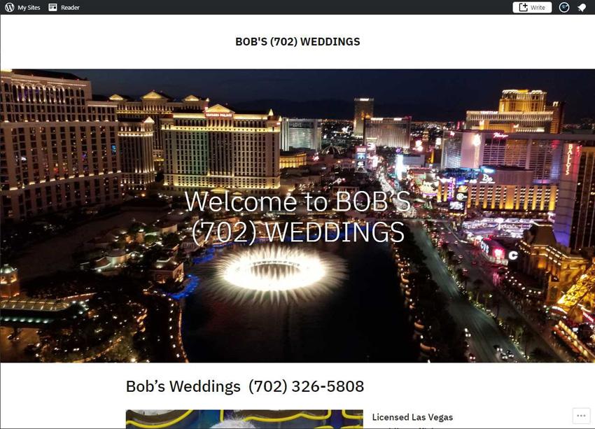 Bob's 702 Weddings Website
