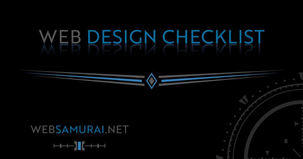 Web Design Checklist by Web Samurai